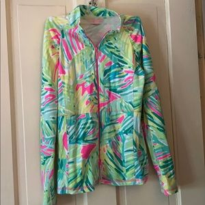 Lilly Pulitzer zip up with pockets